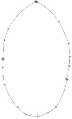MARIANI 18kt White Gold Diamond Floral Necklace