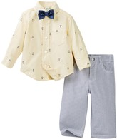 Little Me Anchor Woven Pant Set & Bow Tie (Baby Boys)