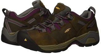 Keen Detroit XT Steel Toe (Cascade Brown/Amaranth) Women's Work Boots