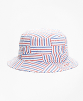Brooks Brothers Patchwork Seersucker Bucket Hat