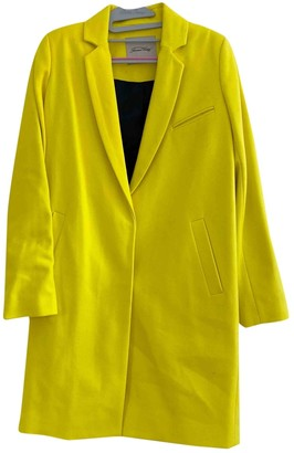 American Vintage Yellow Wool Jacket for Women