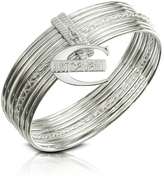 Just Cavalli Infinity - Logo Charm Stacked Bangle Bracelet