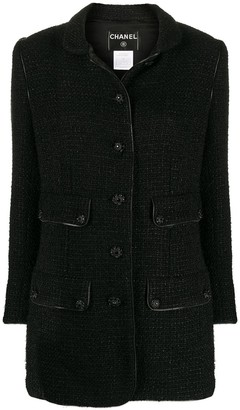 Chanel Pre Owned 2008 Metallic Threading Straight-Fit Jacket