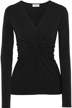 By Malene Birger Sulana Twist-front Stretch-crepe Top