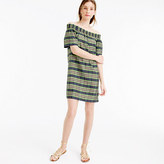 J.Crew Collection off-the-shoulder dress in yarn-dyed silk