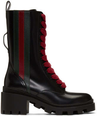 Gucci Black Web Boots