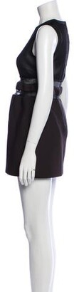 Alexander Wang Crew Neck Mini Dress Black