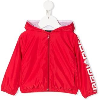 Versace Greca print hooded jacket