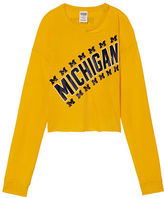 PINK University Of Michigan Long Sleeve Campus Cutout Tee