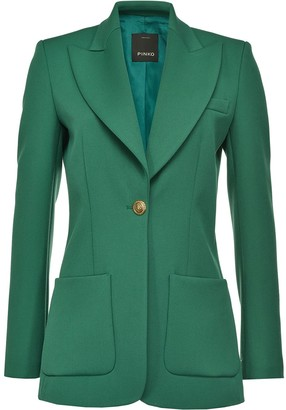 Pinko Front Buttoned Fitted Blazer