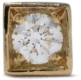 Feidt Paris 18kt yellow gold Modele large diamond square stud