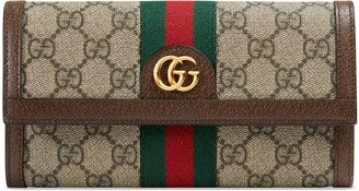 Gucci DIY Ophidia GG continental wallet
