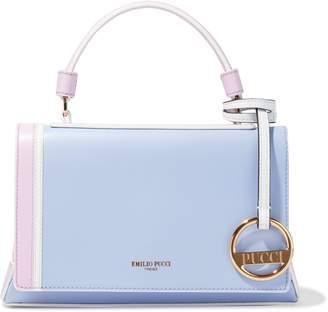 Emilio Pucci Pilot Mini Color-block Leather Shoulder Bag