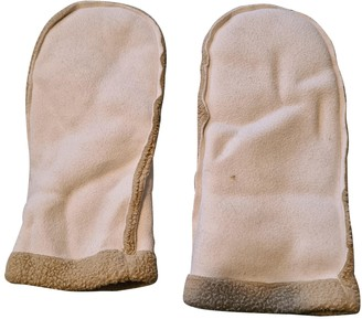 Non Signé / Unsigned Non Signe / Unsigned Hippie Chic Beige Synthetic Gloves