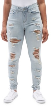 Dollhouse Juniors' Ripped Skinny Jeans