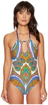 Trina Turk Pacific Paisley High Neck One-Piece Women's Swimsuits One Piece