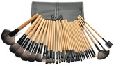 Bliss & Grace 32-Piece Professional Makeup Brush Set with Vegan Leather Travel Case - Wood