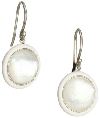 Ippolita Lollipop Carnevale Ceramic, Sterling Silver & Mother-Of-Pearl Doublet Drop Earrings