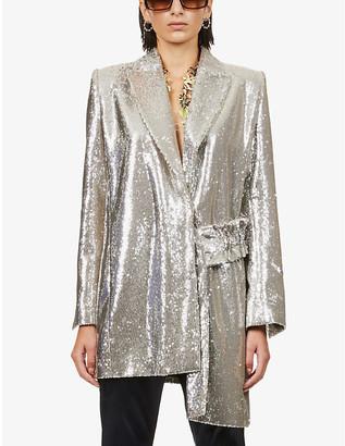 Off-White Paillettes sequin embellished jacket