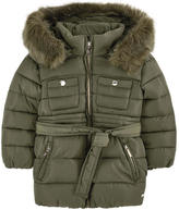 Mayoral Padded coat with faux fur