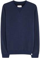 Derek Rose Devon Navy Cotton Sweatshirt
