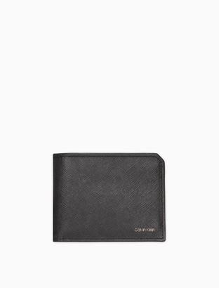 Calvin Klein Matte Saffiano Leather Bifold Wallet