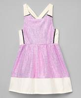 KensieGirl Pink Sparkle A-Line Dress - Girls