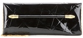 Tom Ford East West Snake Heads patent leather clutch