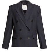 Etoile Isabel Marant Visby Double-breasted Checked-wool Blazer - Womens - Navy