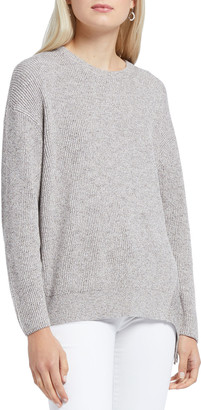 Nic+Zoe Plus Size Fringe Times Crewneck Long-Sleeve Top