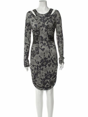 Matthew Williamson Animal Print Knee-Length Dress w/ Tags Green