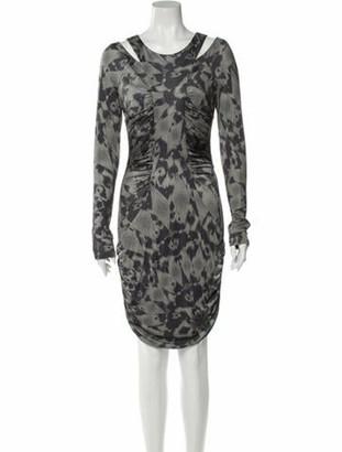 Matthew Williamson Animal Print Knee-Length Dress w/ Tags Green