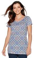 M&Co Floral print longline t-shirt