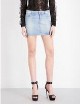 Stretch Denim Miniskirt - ShopStyle