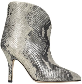 Paris Texas High Heels Ankle Boots In Silver Leather