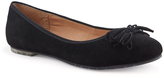 Me Too Black Cassi Suede Flat