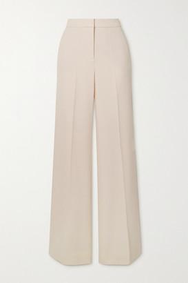 Victoria Victoria Beckham Crepe Wide-leg Pants - Cream
