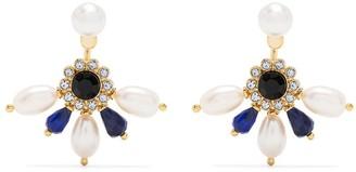 Erdem Crystal Swing Drop Earrings