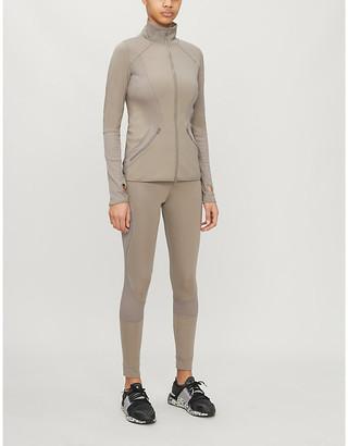 adidas by Stella McCartney Essentials mesh-trimmed stretch-jersey jacket