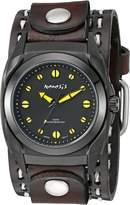 Nemesis Men's 081DBDSTHY Eternity Series Analog Display Japanese Quartz Brown Watch