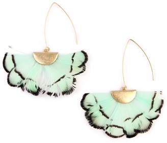 Riah Fashion Butterfly-Wings Threader Earrings