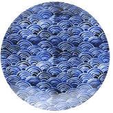 David Jones Shibori Blue Fan Side Plate 23cm