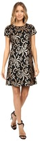 Jessica Simpson Scroll Embellished Sequin Dress