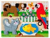 Melissa & Doug Pets Wooden Chunky Jigsaw Puzzle - Dog, Cat, Bird, and Fish (20pc)