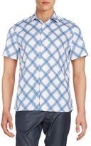 Perry Ellis Printed Cotton Sportshirt
