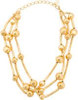Oscar de la Renta Geode triple strand necklace