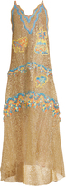 Peter Pilotto Palm tree-embroidered guipure-lace gown