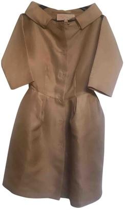 Giambattista Valli Beige Silk Trench Coat for Women