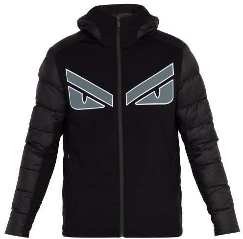 Fendi Monster Applique Quilted Hooded Jacket - Mens - Black