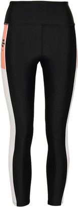 P.E Nation Cropped Color-block Stretch Leggings